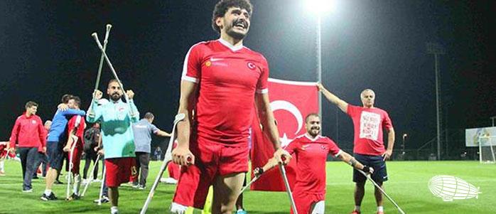 Türkiye – İngiltere Ampute Milli Futbol Takımları EAFF AVRUPA AMPUTE FUTBOL ŞAMPİYONASI FİNALİ